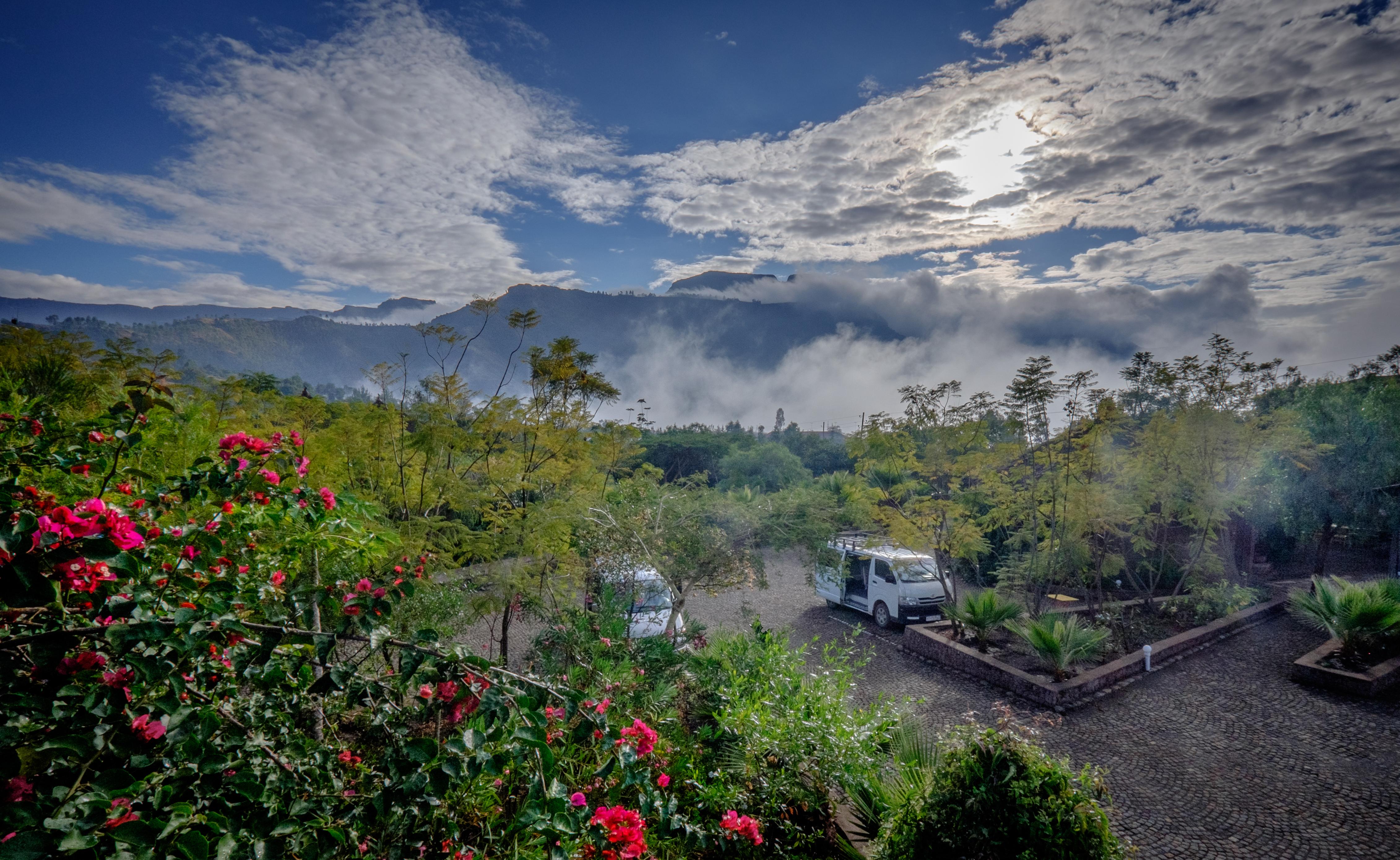 View-ul de la Tukul Lodge, Lalibela