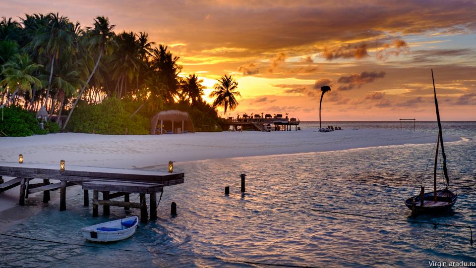 Insula Dhoores la apus