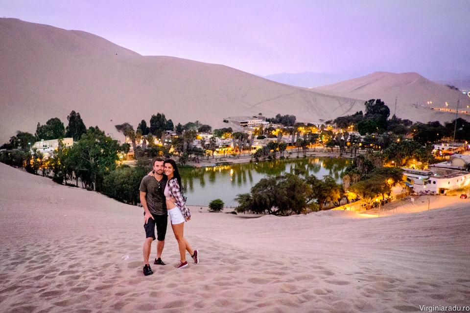Peru. Huacachina, oaza in desert