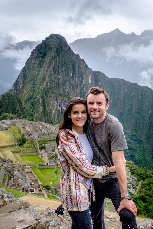 Peru. Dupa 5 zile de trekking prin munti, dormit la cort la inaltime de aproape 4000 m, am ajuns la Machu Picchu