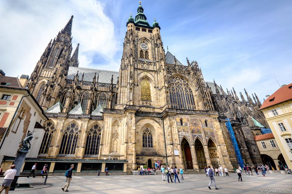 Castelul din Praga, locul unde sunt pastrate bijuteriile coroanei boemiei